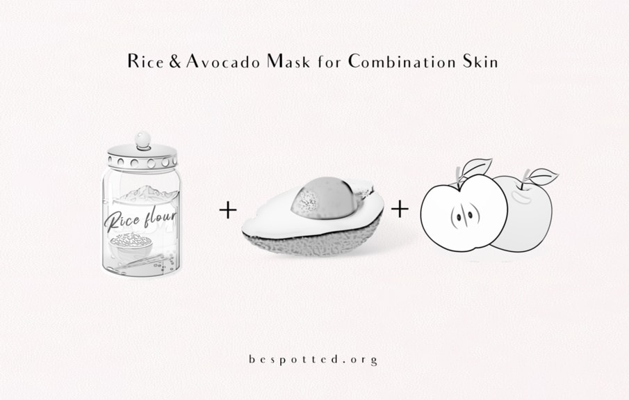 How to make a face mask with rice, avocado and fresh apple juice