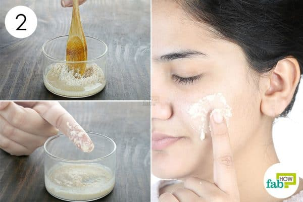 mix well and apply oatmeal face mask for rashes and allergies