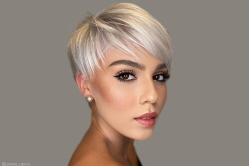 Pictures of the best pixie cut with bangs haircuts for short hair