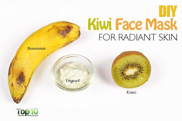 DIY kiwi face mask
